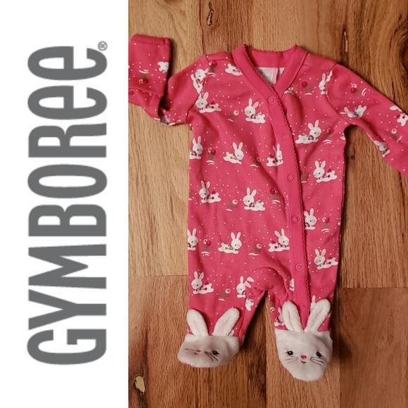 GYMBOREE BRAND NEW BABY SAFARI PRINT FOOTED ONE PIECE Preemies 0 3 6 9 NWT-OT